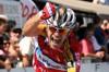 Giampaolo Cheula esulta di gioia all'arrivo del GP Nobili 2008