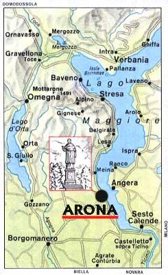 Arona, sul Lago Maggiore