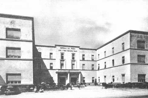 l'ospedale negli anni '60 prima dell'attuale ammodernamento