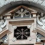 Cappella Beolco - particolare facciata lato ovest