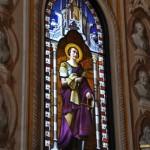 Chiesa dei Santi Martiri - vetrata policroma San Felino