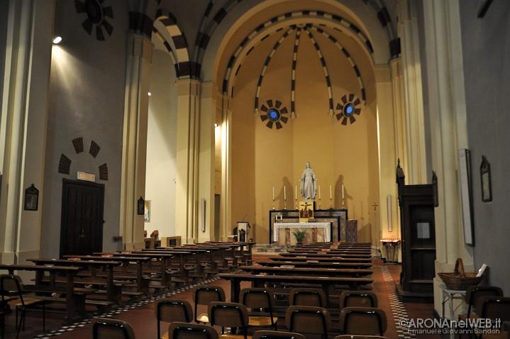 Chiesa del Sacro Cuore - interno della chiesa