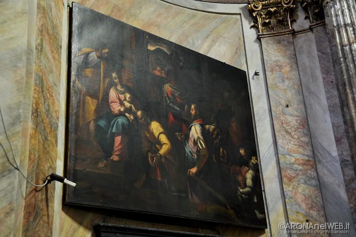 """Chiesa di Santa Maria - cappella del Rosario, dipinto """"Adorazione dei magi"""""""