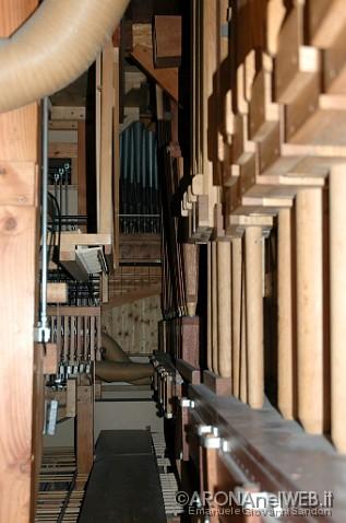 Chiesa di Santa Maria - organo, interno strumento