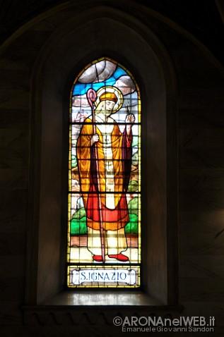 Chiesa di Santa Maria - vetrata S. Ignazio