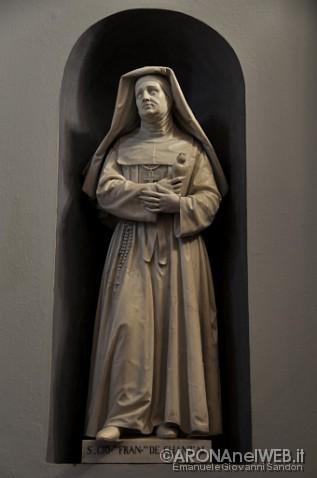 Monastero della Visitazione - statua di Santa Giovanna Francesca di Chantal