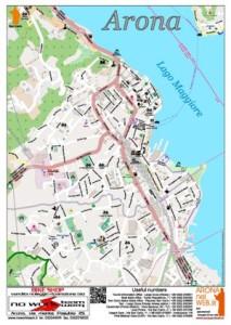 Mappa turistica di Arona