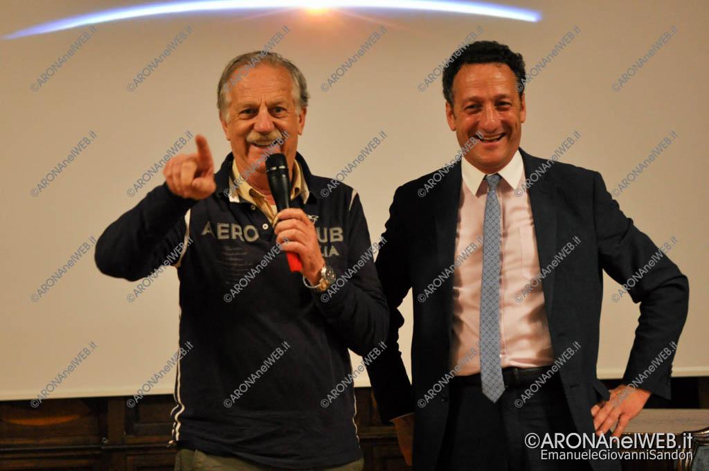 EGS2016_15913   on. Giuseppe Leoni, Presidente dell'Aero Club d'Italia con il sindaco Alberto Gusmeroli