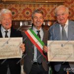 EGS2016_32766 | Il dott. Roberto Romerio Bonazzi e il cav. dott. Giuseppe Miglio con il sindaco Renzo Norbiato