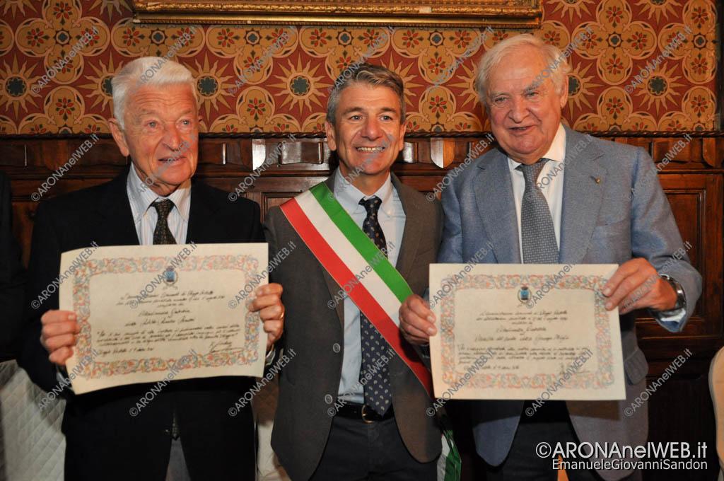 EGS2016_32766   Il dott. Roberto Romerio Bonazzi e il cav. dott. Giuseppe Miglio con il sindaco Renzo Norbiato