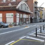 EGS2017_03944   Il cordolo in Corso Liberazione con riduzione dei parcheggi