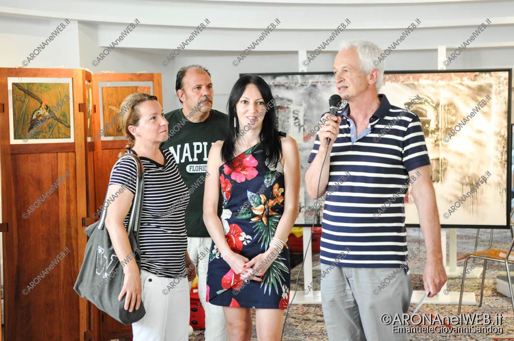 EGS2017_19297   Rita Caracausi e Andrea Colombo di Galleria Spazioporpora con Silvia Ceffa e Giancarlo Fantini