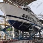 EGS2017_30460 | Aliscafo in manutenzione al cantiere nautico della Navigazione Lago Maggiore di Arona