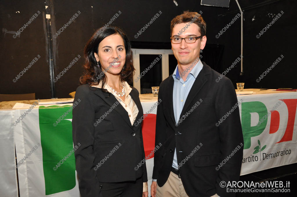 EGS2017_33960   Virginia D'Angelo e Alessandro Travaini, segretario uscente PD Arona