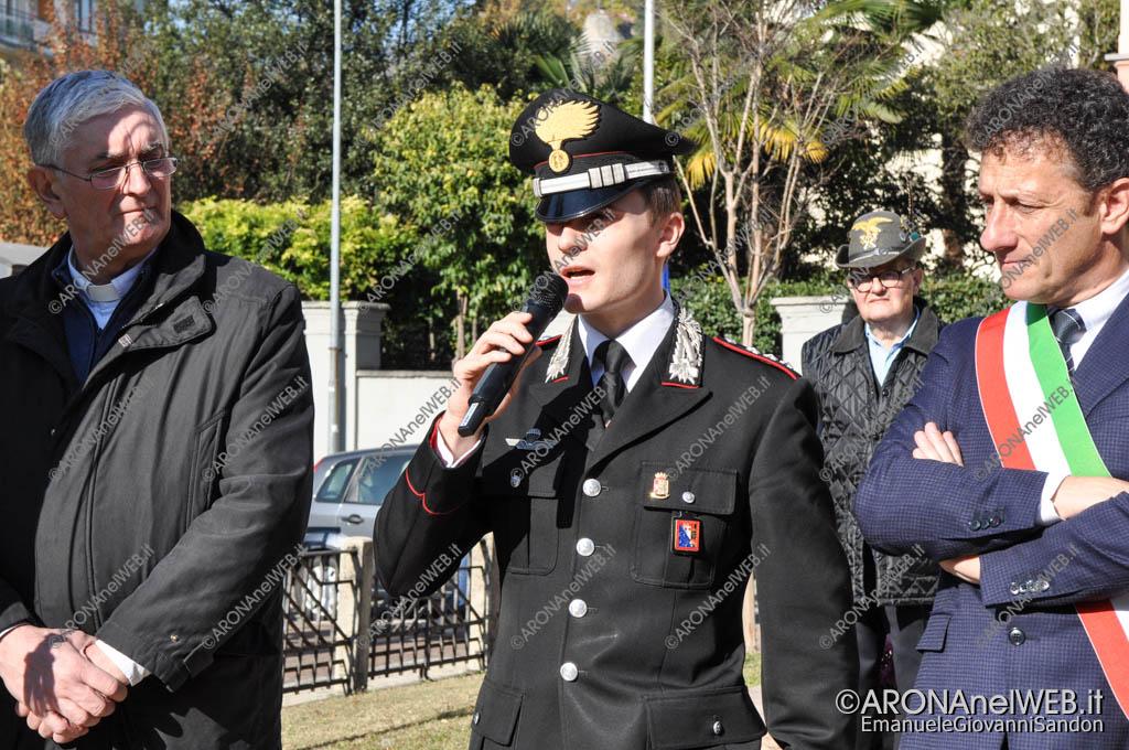 EGS2017_35967   Intervento del comandante Andrea Ceron - Commemorazione 4 novembre al monumento ai caduti di Arona