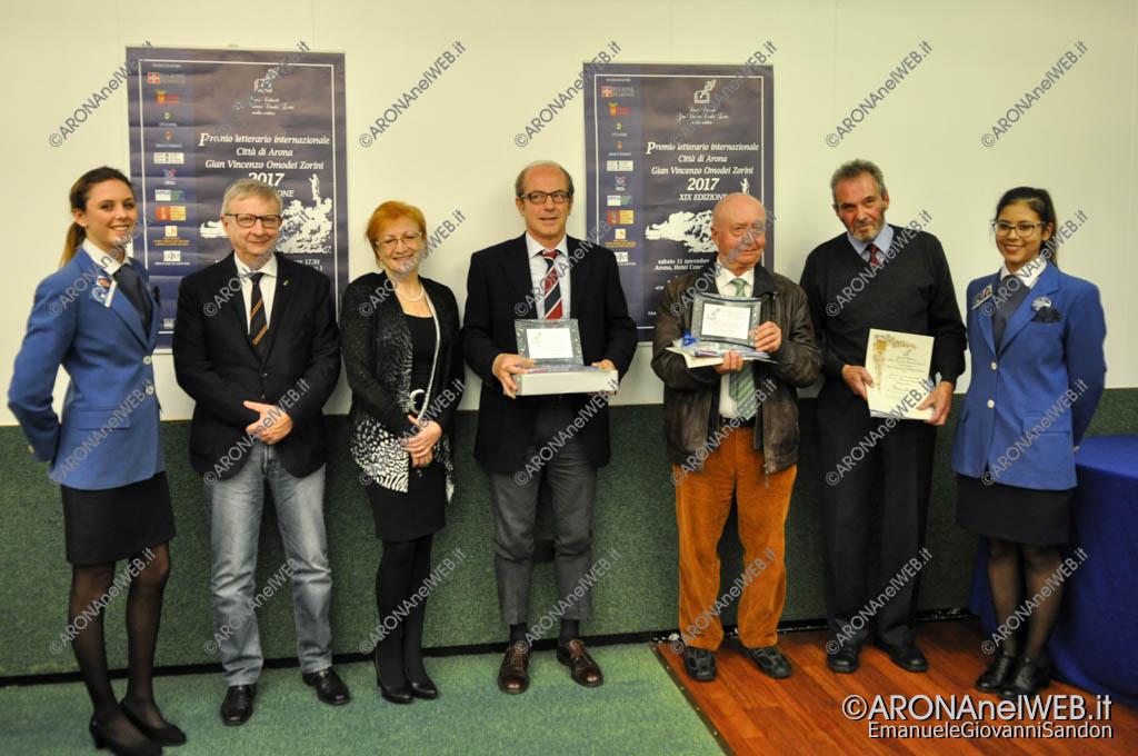 EGS2017_37351 | Premiazione sezione Medici scrittori nel mondo - Arturo Lattuneddu e Marko Peter con Simone Bandirali, Patrizia Valpiani e Sergio Marengo