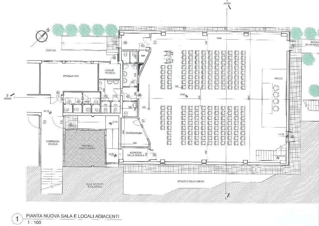 Progetto nuova sala polivalente Istituto Comprensivo Giovanni XXIII