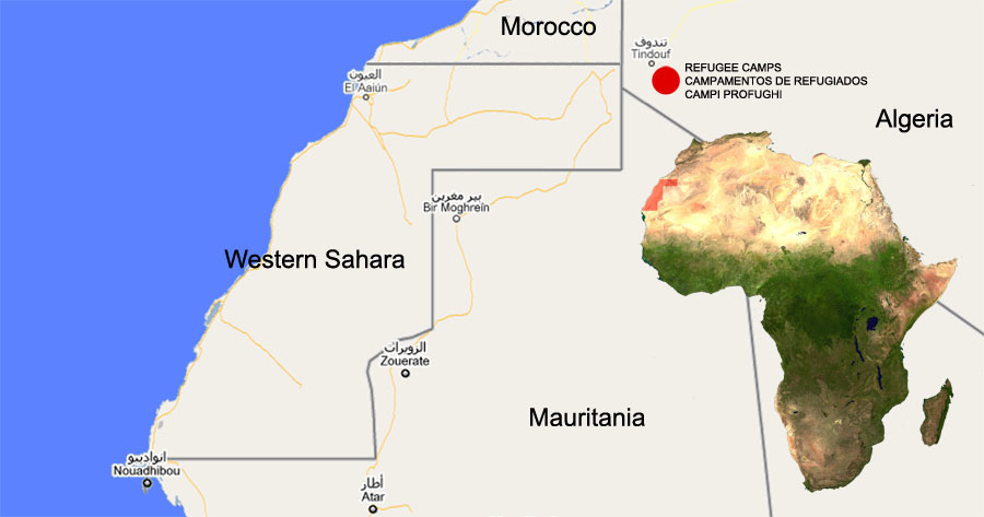 ViaggioSaharawi2018 | Mappa Algeria e campi profughi