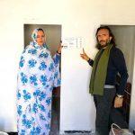 ViaggioSaharawi2018 | Posa targa finanziatori progetto ristrutturazione bagni