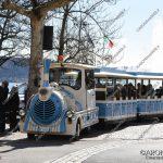 """EGS2018_05641   Il trenino turistico alla """"stazione"""" presso rotonda di Corso Repubblica"""