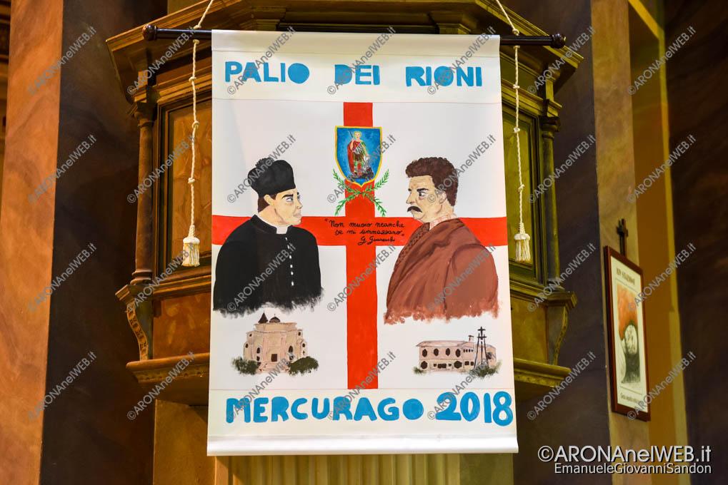 EGS2018_18142   Lo stendardo del Palio di Mercurago 2018, opera di Luana Rizzo