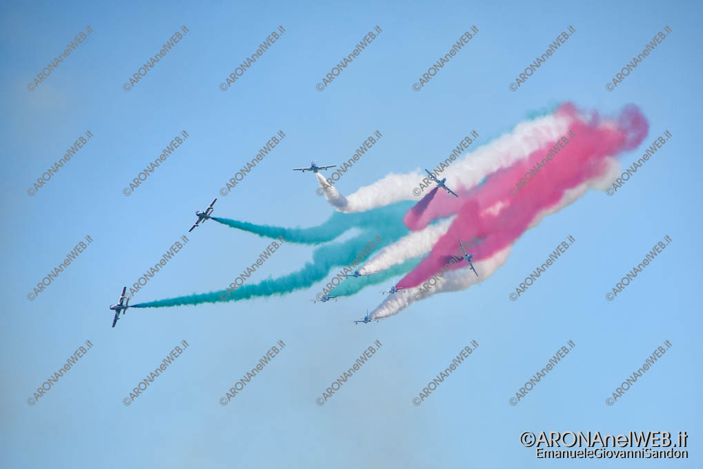EGS2018_19868 | Aronairshow2018, l'esibizione delle Frecce Tricolori della Pattuglia Acrobatica Nazionale dell'Aeronautica Militare