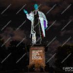 EGS2018_27737   Statua di San Carlo, videomapping a cura di Electric Land