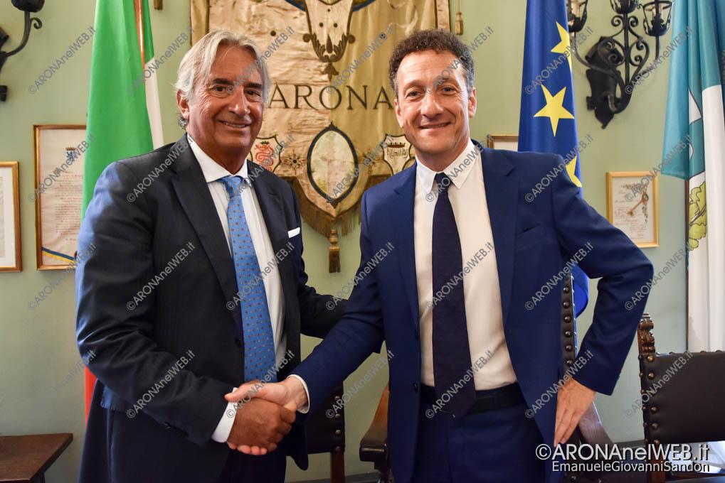 EGS2018_28247 | Tullio Mastrangelo con il sindaco Alberto Gusmeroli