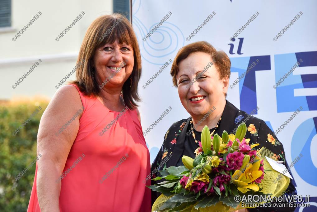 EGS2018_33705 | | Shirin Ebadi con Carla Rossi, presidente della Consulta Femminile di Arona