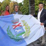 EGS2018_34531   Il sindaco Lorena Vevodato con il marchese Mario Incisa della Rocchetta e il presidente della provincia di Novara Matteo Besozzi