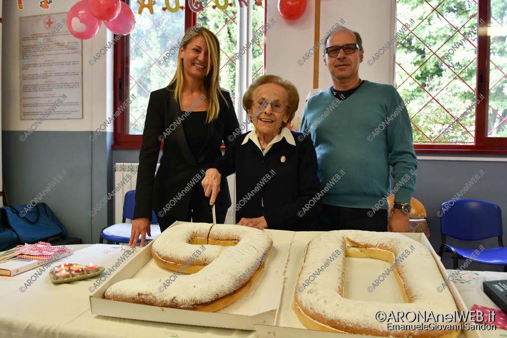 EGS2018_35221   La Croce Rossa di Arona festeggia i 90 anni della sig.ra Alma Mazza