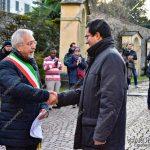 EGS2018_42107 | Il saluto con il sindaco di Lesa, Roberto Grignoli