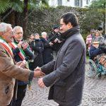 EGS2018_42123 | Il saluto con il sindaco di Belgirate, Valter Leto
