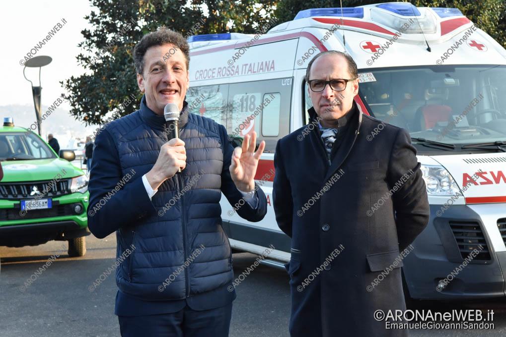 EGS2019_00008 | Alberto Gusmeroli, sindaco di Arona e Michele Giovannetti, presidente Comitato Croce Rossa di Arona