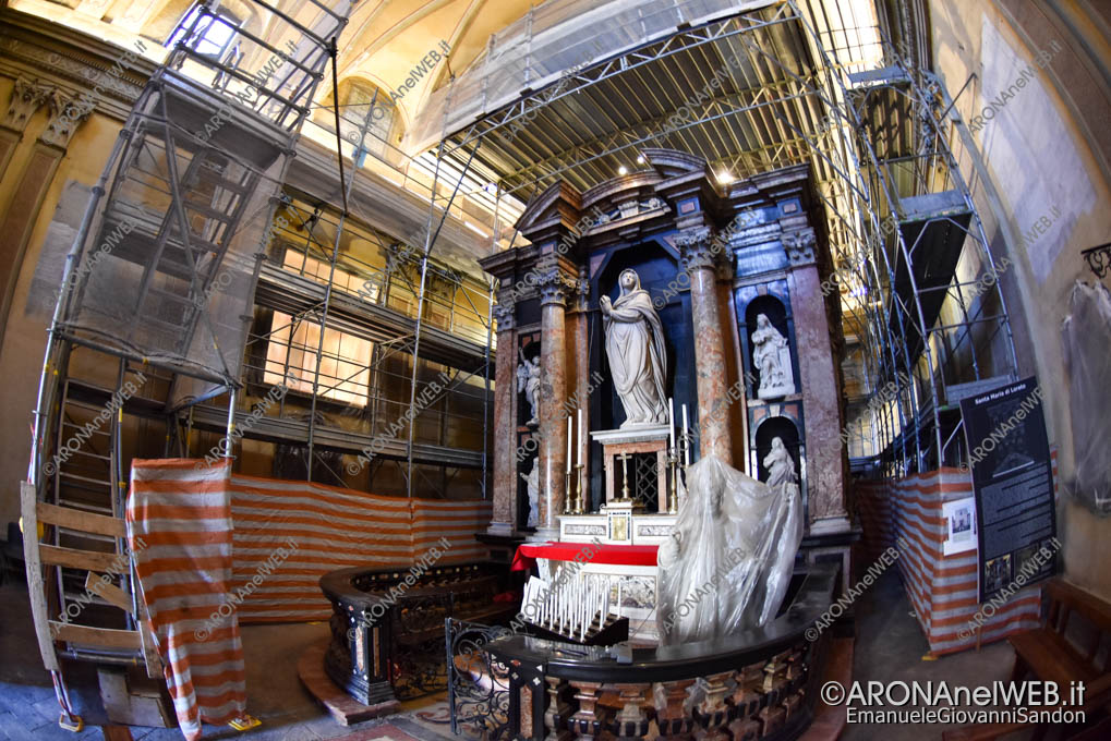 EGS2019_06792 | Allestito il ponteggio nella Chiesa di Santa Marta ad Arona