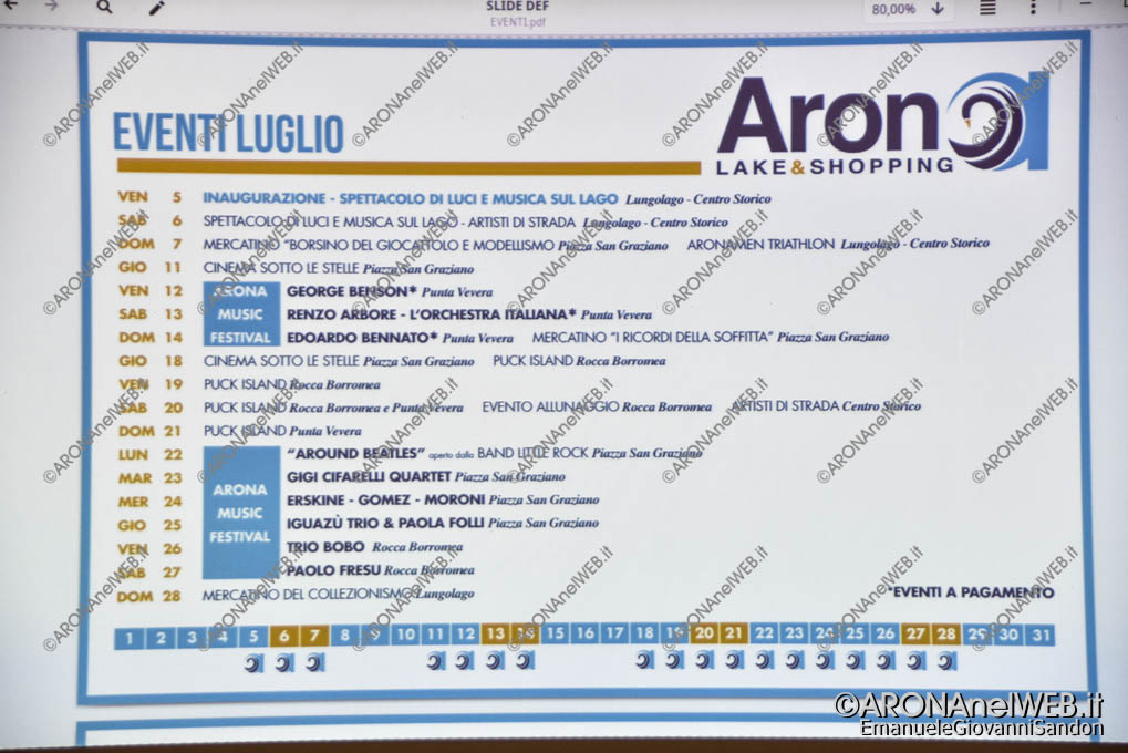 EGS2019_15301 | Il programma provvisorio di Arona Lake&Shopping