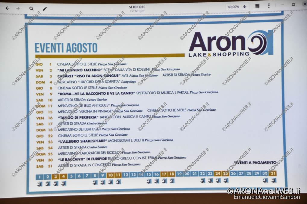 EGS2019_15302 | Il programma provvisorio di Arona Lake&Shopping