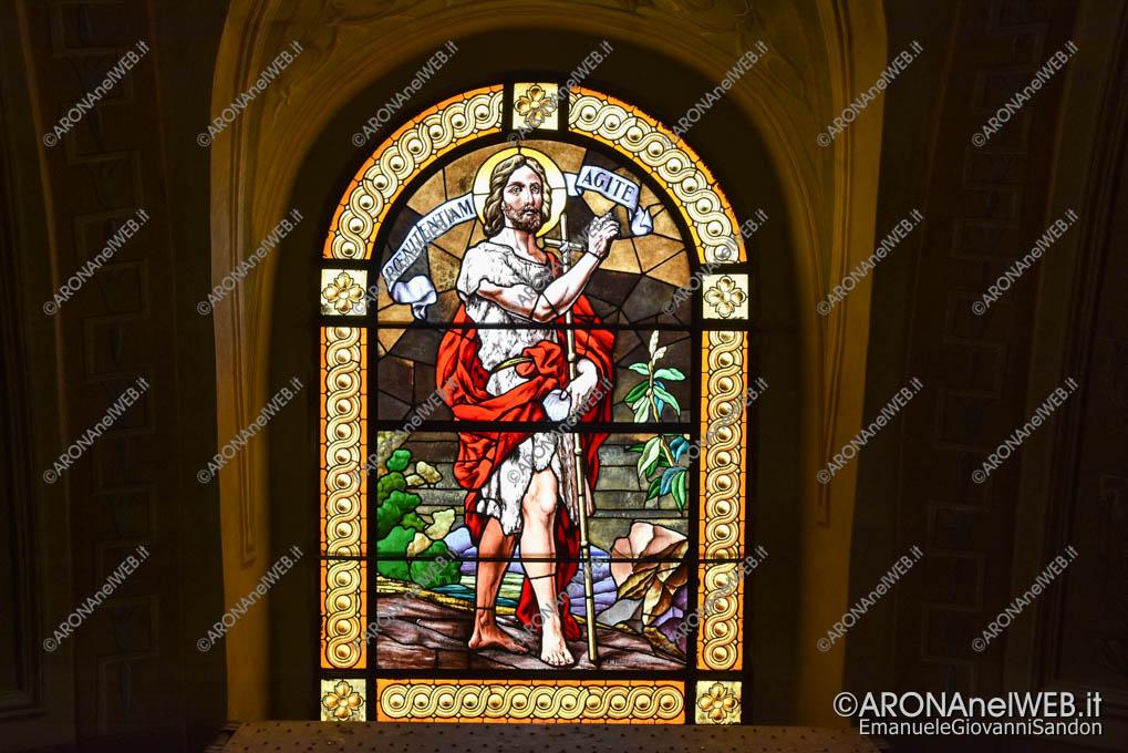 EGS2019_20162 | Vetrata policroma della chiesa di San Giovanni Battista di Dagnente opera di A. Poletti 1931