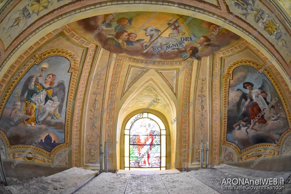 EGS2019_20175 | Dagnente, Chiesa parrocchiale di San Giovanni Battista - volta con affreschi di Luigi Morgari