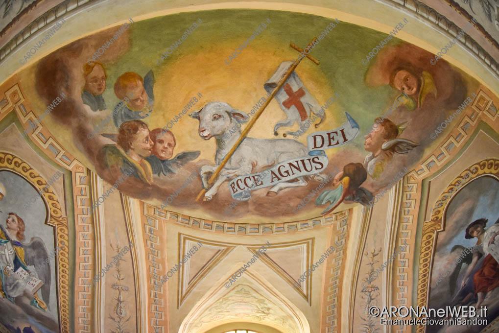 EGS2019_20180 | Dagnente, Chiesa parrocchiale di San Giovanni Battista - volta con affreschi di Luigi Morgari