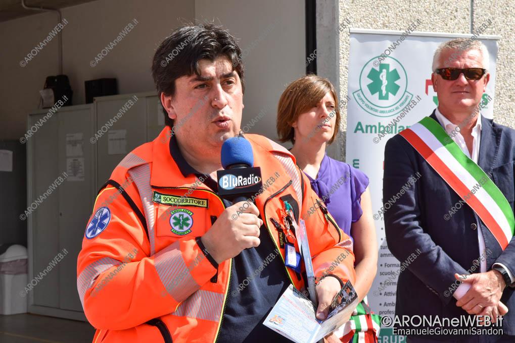 EGS2019_27328 | Daniele Giaime, presidente del Gruppo Volontari Ambulanza del Vergante