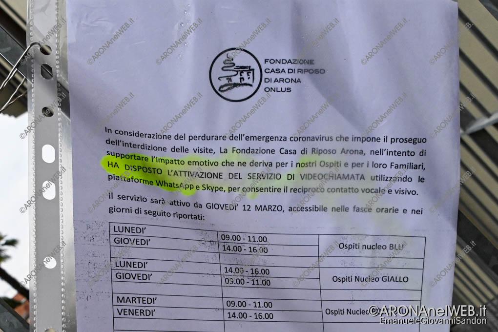 EGS2020_04310 | Casa di Riposo di Arona, disposizioni Covid-19