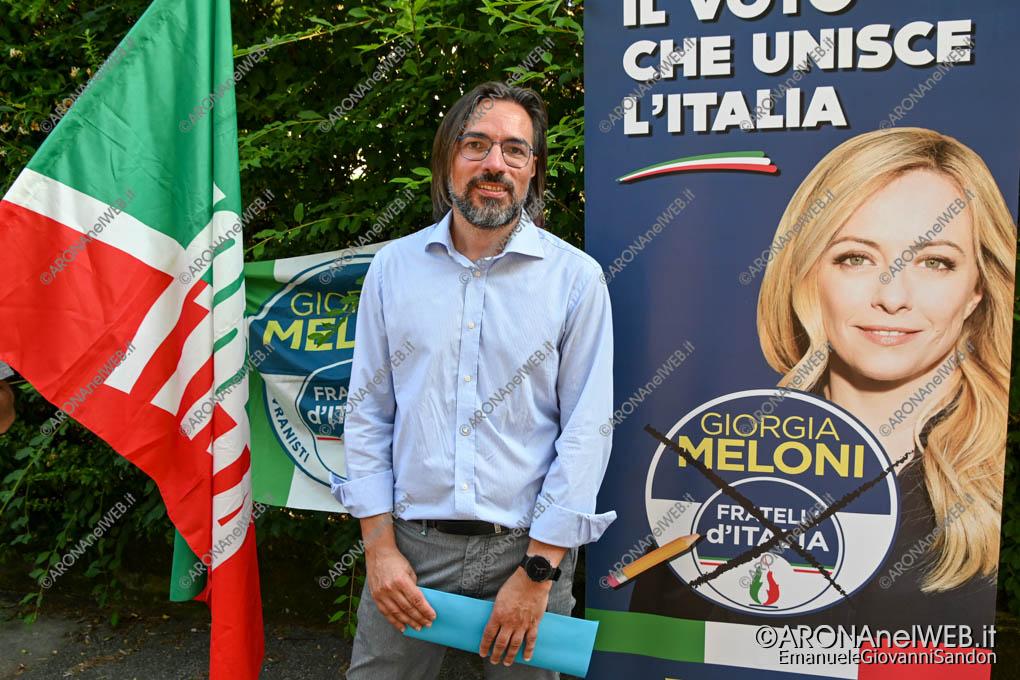 EGS2020_06727 | Luca Brianti, candidato sindaco di Arona - lista Fratelli d'Italia e Forza Italia