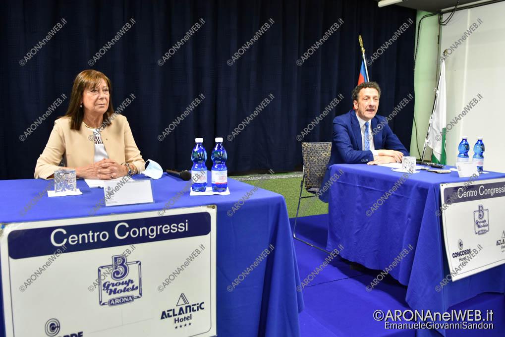 EGS2020_07603   l'Assessore regionale Vittoria Poggio e il sindaco di Arona Alberto Gusmeroli