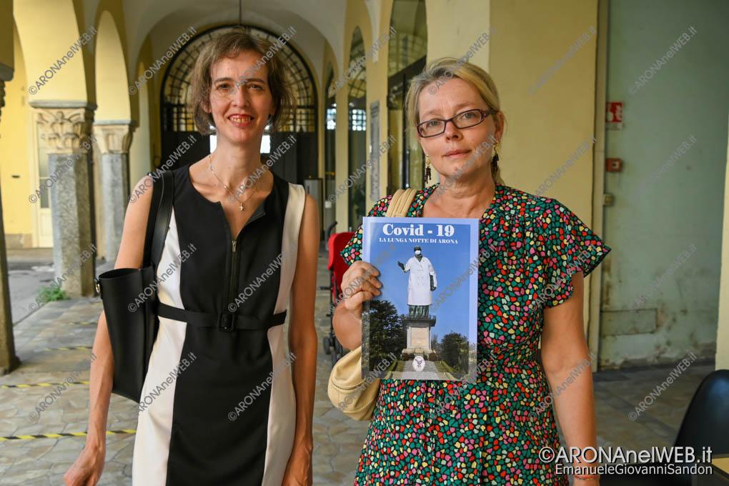 """EGS2020_11838   Antonella Avallone e Elisabetta De Righetti autrici del libro """"Covid-19. La Lunga Notte di Arona"""""""