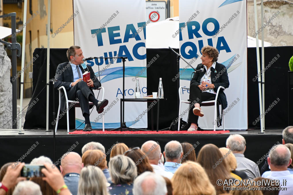 EGS2020_12835 | Massimo Giannini con Dacia Maraini al Teatro sull'Acqua 2020