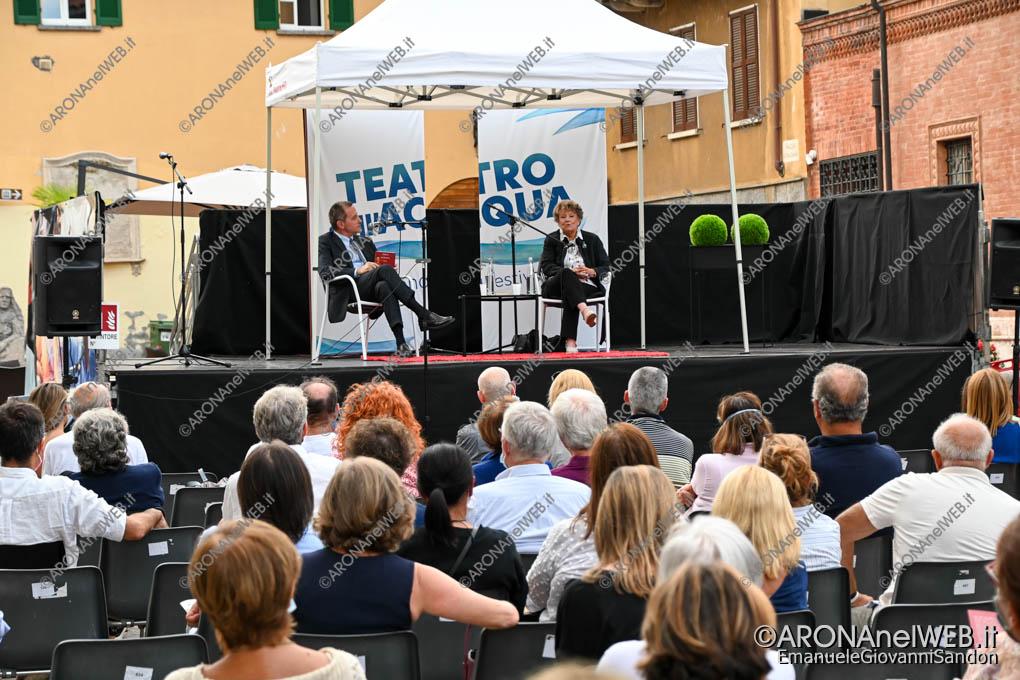 EGS2020_12839 | Massimo Giannini con Dacia Maraini al Teatro sull'Acqua 2020