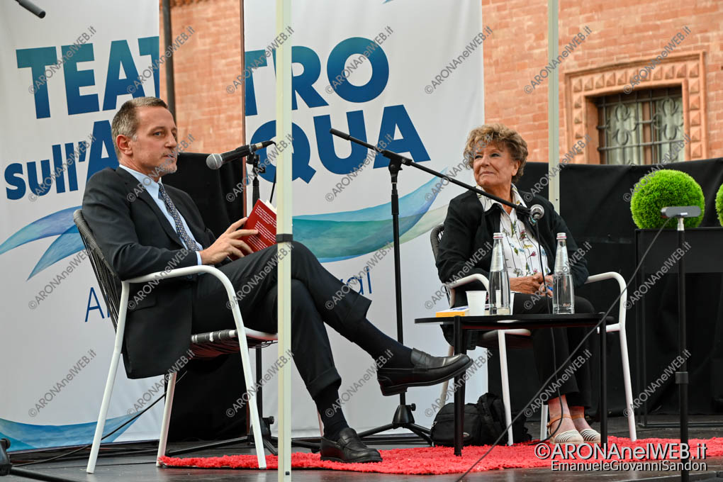 EGS2020_12855 | Massimo Giannini con Dacia Maraini al Teatro sull'Acqua 2020