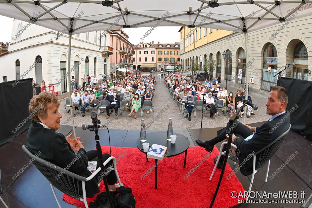 EGS2020_12867 | Massimo Giannini con Dacia Maraini al Teatro sull'Acqua 2020