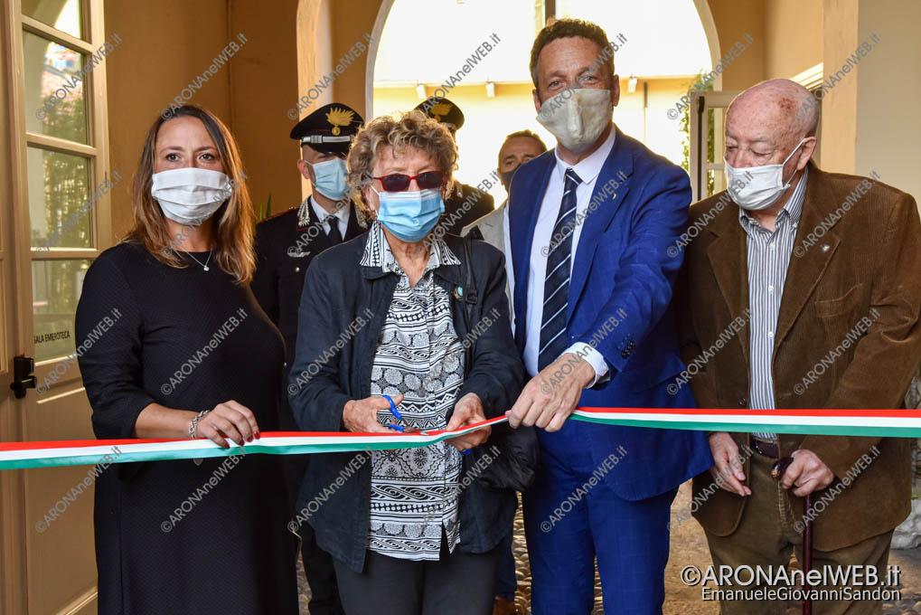 """EGS2020_13144   Inaugurazione riqualificazione della Biblioteca Civica di Arona """"Sen. Avv. Carlo Torelli"""""""